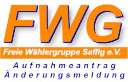 FWG Saffig e.V. Aufnahmeantrag Änderungsmeldung PDF